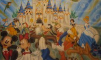 CASTELO COM PERSONAGENS DISNEY TAM 3,00X3,00